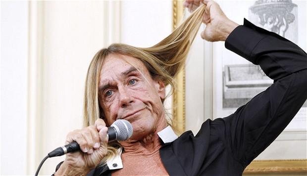 Iggy Pop, en rueda de prensa, esta mañana, en París