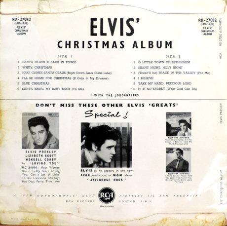 ELVIS PRESLEY Y SU ALBUM DE NAVIDAD DE 1957, EL MAS VENDIDO DE TODOS LOS TIEMPOS