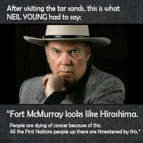 Neil Young on oil sands