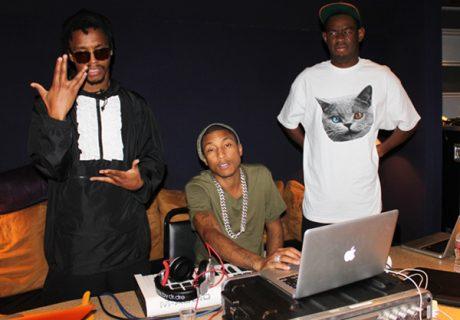 Pharrell-Williams-Tyler-the-Creator-Lupe-Fiasco-Studio-Time