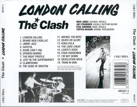 London Calling - back - coversandlyrics.blogspot.it