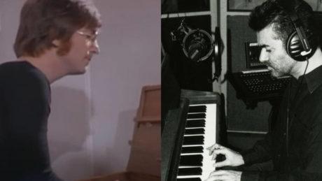 GEORGE MICHAEL Y EL PIANO DE JOHN LENNON